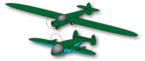 Personal impression of the PB 37 Slipwing. For reasons of clear vision to both models I separated the airplanes.