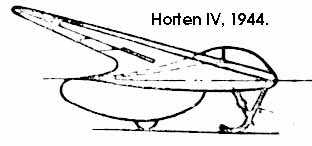 Sideview of the Horten H IV (I got this drawing from the model firm Sharkit)