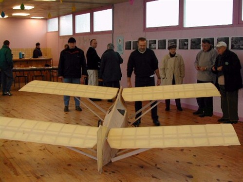 "The finished model of the Peyret-Maneyrol glider, made by ""groupe du model air club de Cherbourg Hague"" (my contactperson is Eric Cousin (France))"