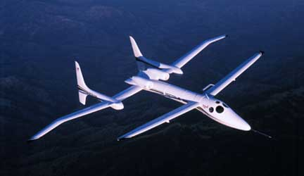 The Proteus of Scaled Composites (permission to use picture from Kaye LeFebvre of Scaled Composites)